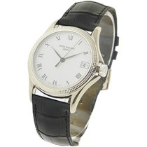 Patek Philippe 5117G 5117 Calatrava with Hobnail Case in White...