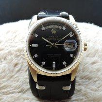 勞力士 (Rolex) DAY-DATE 18038 18K Gold with Original Glossy Black...