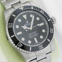 Rolex 114060 Submariner NO DATE Ceramic Bezel Black Dial