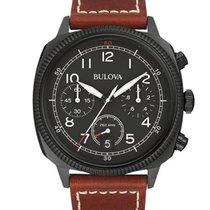 Bulova Mens Military UHF Chrono - Black Case & Dial -...