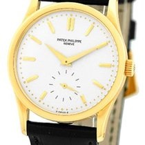"Patek Philippe Gent's 18K Yellow Gold  # 3796 ""Calatra..."