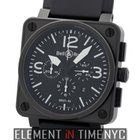 Bell & Ross Aviation Carbon Chronograph Matte Black PVD...