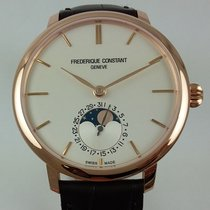 Frederique Constant SlimLine Manufacture Moonphase plated rose...