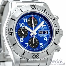 Breitling SuperOcean Steelfish Chronograph Diver Watch Blue...