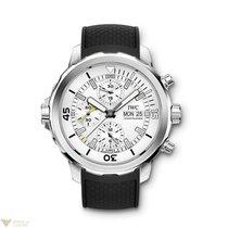 IWC Aquatimer Chronograph Silver Dial Rubber Strap Men's...