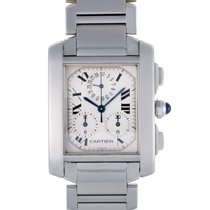 Cartier Tank Francaise Mens Quartz Watch W51001Q3