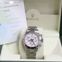 Rolex Daytona 116520 White Dial Stainless Steel Box & Papers
