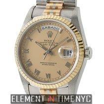 Rolex Day-Date President Tridor Champagne Roman Dial W Serial...