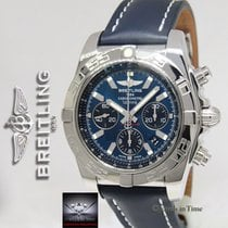 Breitling Chronomat 01 Chronograph Steel Blue Dial Mens Watch...