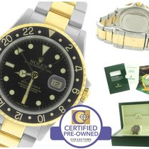 Rolex GMT-Master II 16713 Two-Tone Gold Stainless Black Date 40mm