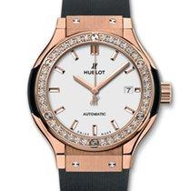 Hublot : 33mm Classic Fusion King Gold Opalin Diamonds Watch