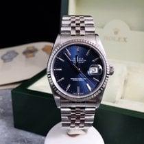 Rolex Datejust 16234 / Blue Dial / White Gold Bezel / Box