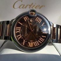 Cartier Ballon Bleu Rose Gold Steel Chocolat Dial 42 mm (Full...