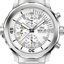 IWC Aquatimer Chronograph Stainless Steel White Dial Bracelet