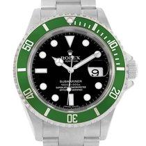 Rolex Submariner Green Bezel 50th Anniversary Watch 16610lv...