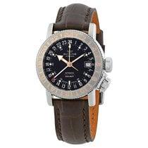 Glycine Airman World-Timer Black Dial Men's Watch