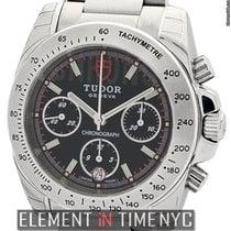 Tudor Chronograph Stainless Steel Black Dial 41mm Ref. 20300