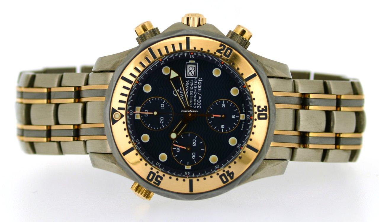 Omega Seamaster 300m Chrono Diver In Titanium And Rose