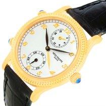 Patek Philippe Calatrava Travel Time Yellow Gold Ladies Watch...