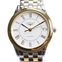 Longines Flagship Pvd Gold White Automatic L4.774.3.21.7