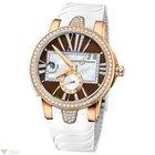 Ulysse Nardin Dual Time Executive Brown Rose Gold 18K Diamonds...