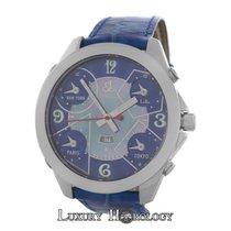 Jacob & Co. Authentic Men's  Time Zones 47MM Steel MOP...