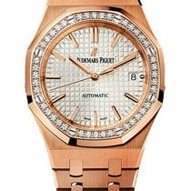 Audemars Piguet Royal Oak Ladies 37mm Rose Gold Diamond Bezel