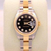 Rolex Datejust 179163 Two Tone Ss & 18k Y Gold Diamond...