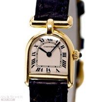 Cartier Mire Louis 18k Yellow Gold Quartz Papers Bj-1998