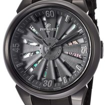 Perrelet Turbine Snake Automatic Black Dial Black Leather...
