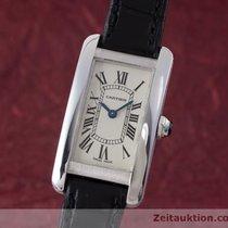 Cartier Lady 18k Weissgold Tank Americaine Damenuhr Ref 2489