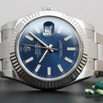 Rolex Datejust II ref. 116334 blue dial - ungetragen aus 2016