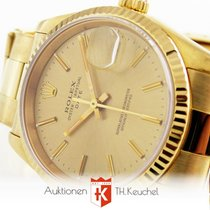 Rolex Oyster Date 34 mm Gold 750 110 gr Ref. 15238 Box + Anl....