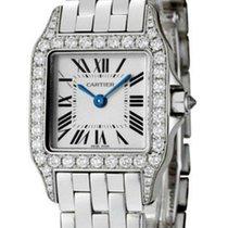 Cartier Santos Demoiselle 18kt White Gold Diamond Women Watch...