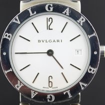 Bulgari steel white dial, quartz with date,33MM