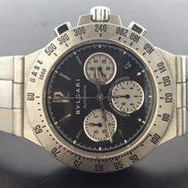 Bulgari Diagono Stainless Steel Chronograph Black Dial 40mm