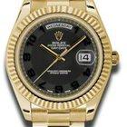 Rolex Day-Date II President Yellow Gold - Fluted Bezel 218238...