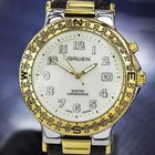 Gruen Electro Luminescence Mens Stainless Steel Gold Plating...