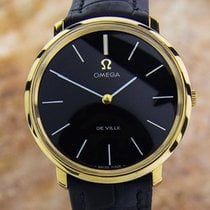 Omega Deville Rare Mens Manual Gold Plated Swiss Made C 1990...