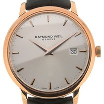 Raymond Weil Toccata 39 Quartz Silver Dial Black Leather