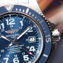 Breitling Men's Superocean II 44 Steel on Steel Bracelet...