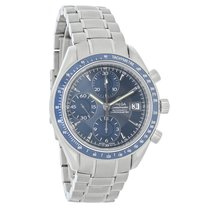 Omega Speedmaster Mens Blue Dial Swiss Chronograph Automatic...