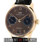 IWC Portuguese Collection 7-Day Power Reserve 18k RG Brown...