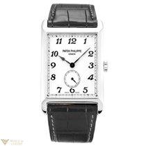 Patek Philippe Gondolo White Gold Black Leather Men's Watch