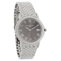 Raymond Weil Tradition Mens Charcoal Date Dial Swiss Quartz...