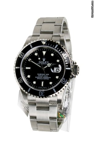 Rolex 16610 BLACK BEZEL - SUBMARINER - U SERIES