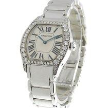 Cartier Tortue Small Size wth Diamond Bezel on Bracelet