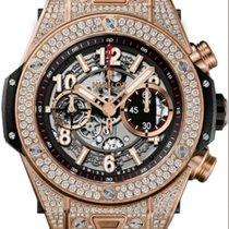 Hublot Big Bang Unico King 411.OX.11180.RX.1704 Gold Diamond...