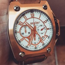 Wyler Incaflex Limited Edition of 3999 18k Rose Gold Box/Papers