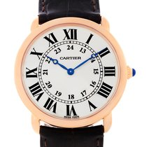 Cartier Ronde Louis 18k Rose Gold Mens Watch W6800251